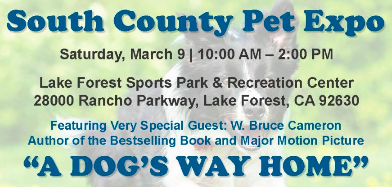 ADOPTION EVENT – SATURDAY MARCH 9 – South County Pet Expo 2019